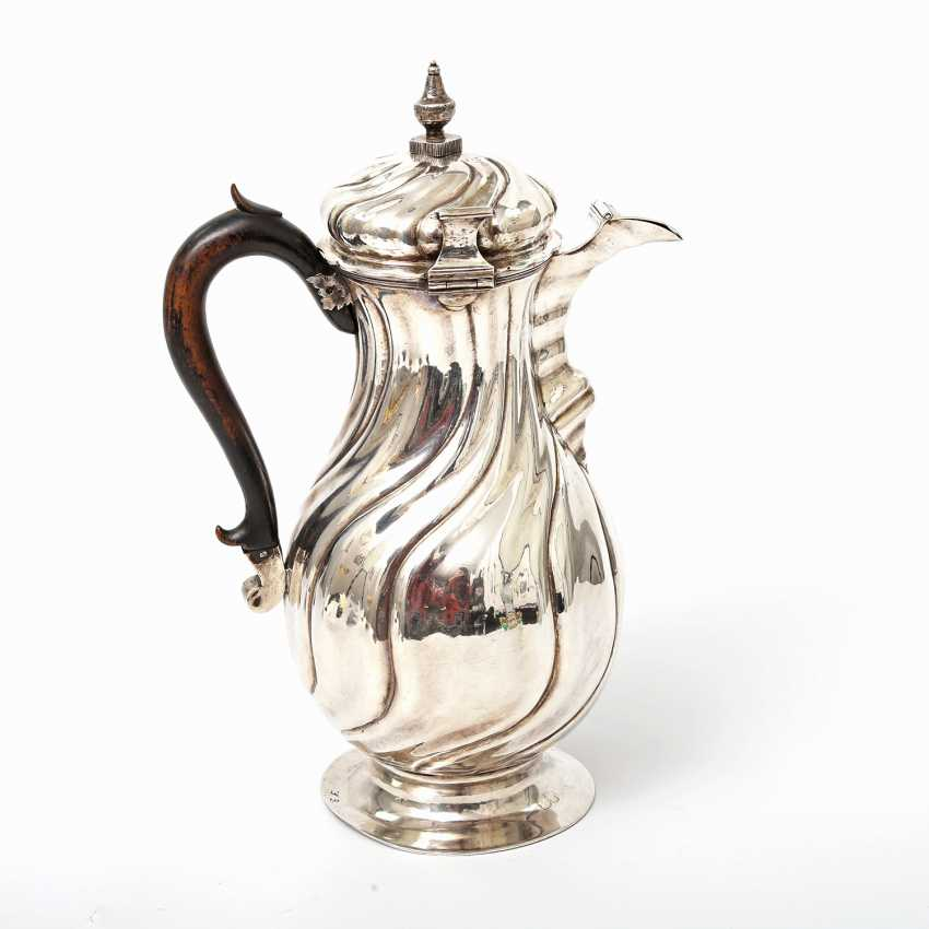 Coffee pot, 12 shekels of SILVER, 19. Century - photo 5