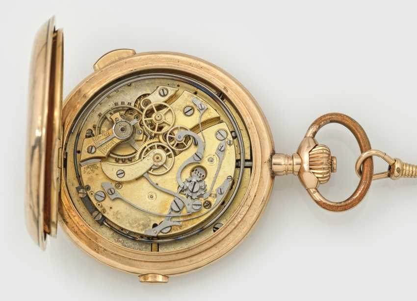 Gold savonette-pocket-watch with 1/4-hour repeater factory - photo 3