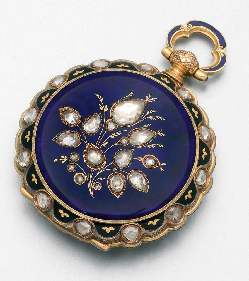 Historically significant jewelry pocket watch with diamond trim - photo 2