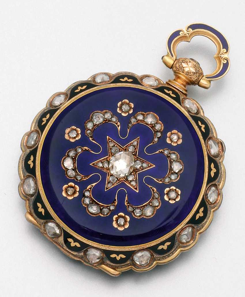 Historically significant jewelry pocket watch with diamond trim - photo 3