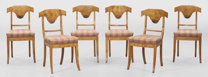 Set of six Biedermeier chairs - photo 1