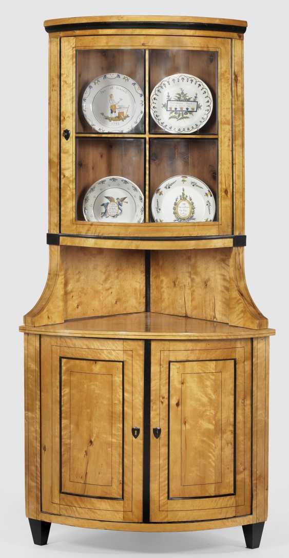 Biedermeier Corner Display Case Cabinet - photo 1