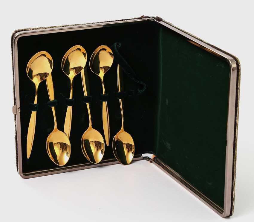 WMF 6 coffee spoons 'Copenhagen' in a gift box, 20. Century - photo 1