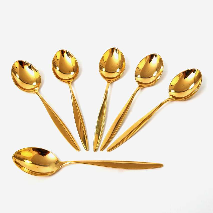 WMF 6 coffee spoons 'Copenhagen' in a gift box, 20. Century - photo 2