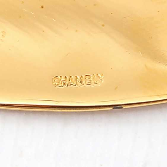 ORFÈVRERIE DE CHAMBLY dessert Cutlery for 9 people, 20teilig, gold plated, 20. Century - photo 5