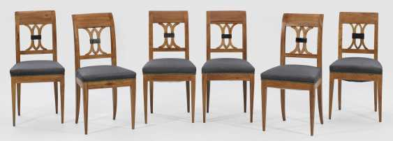 Set of six chairs in the Biedermeier style - photo 1