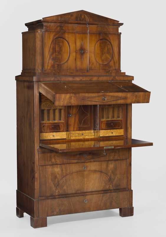 Large Biedermeier writing Desk with secret drawers - photo 1