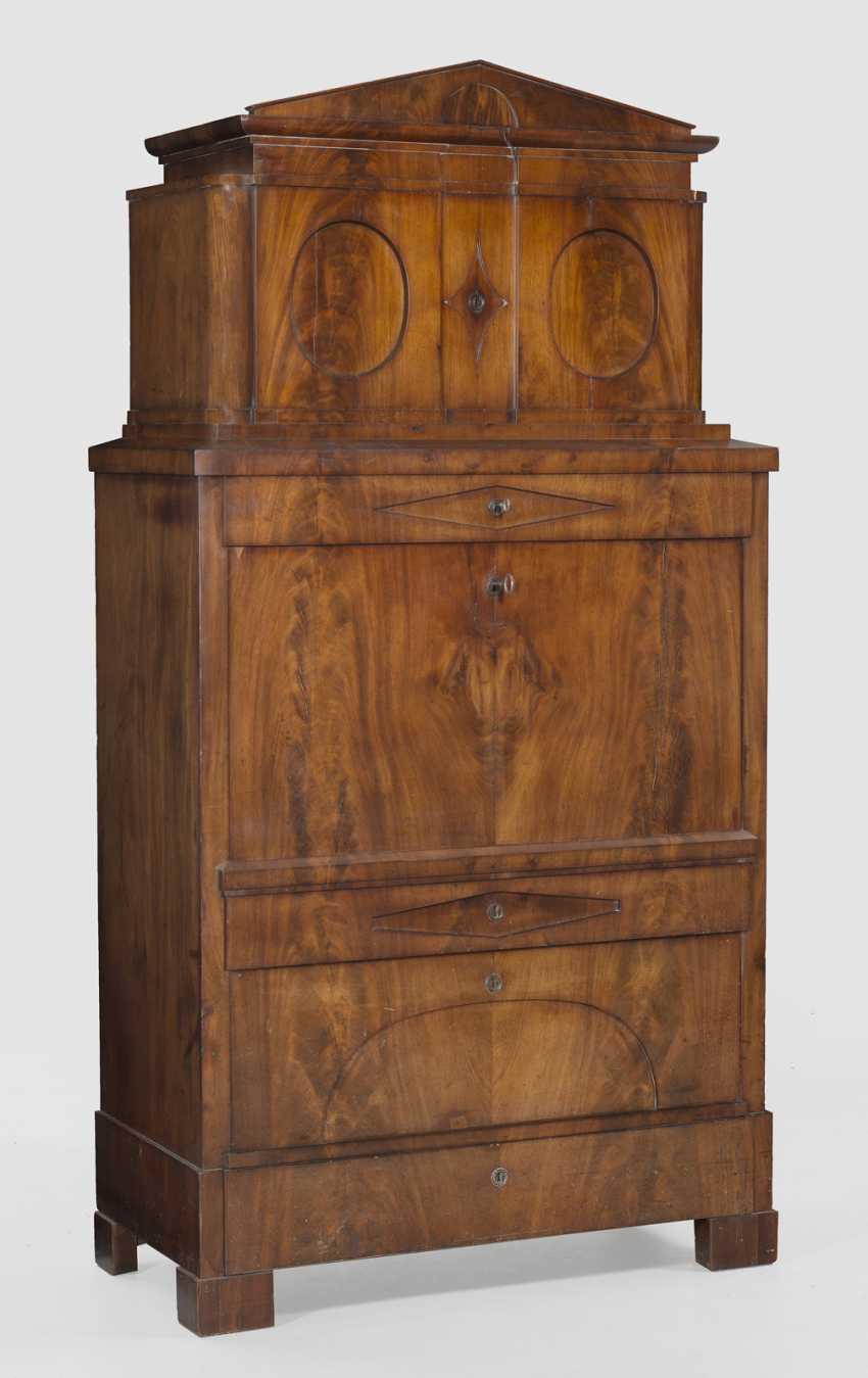 Large Biedermeier writing Desk with secret drawers - photo 2