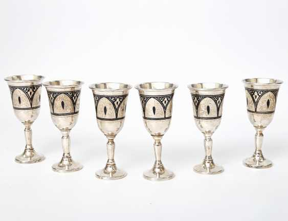 Vintage Siam sterling silver cups for 6 people, 20. Century - photo 2