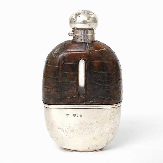 LONDON exceptional flask with integrated Cup, 1892 - photo 3