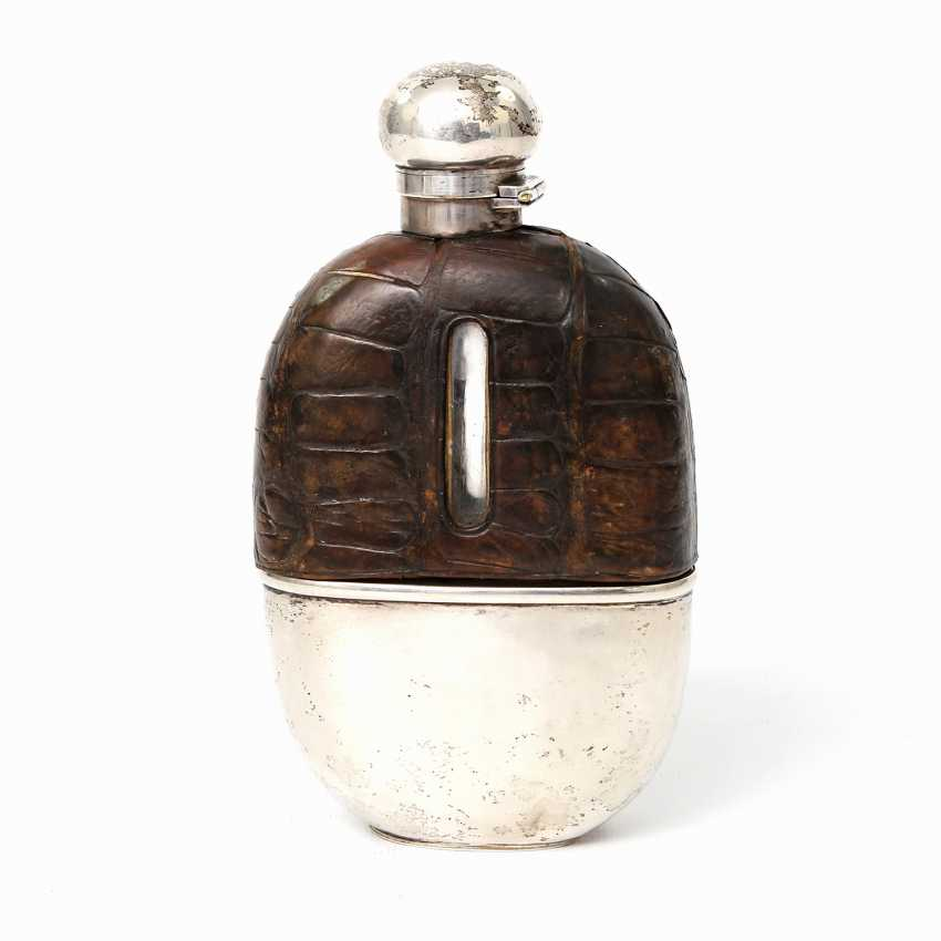 LONDON exceptional flask with integrated Cup, 1892 - photo 6