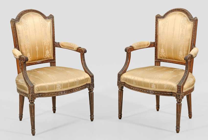 Пара Louis XVI-кресла - фото 1