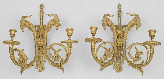 Paar Louis XVI-Wandappliken - photo 1