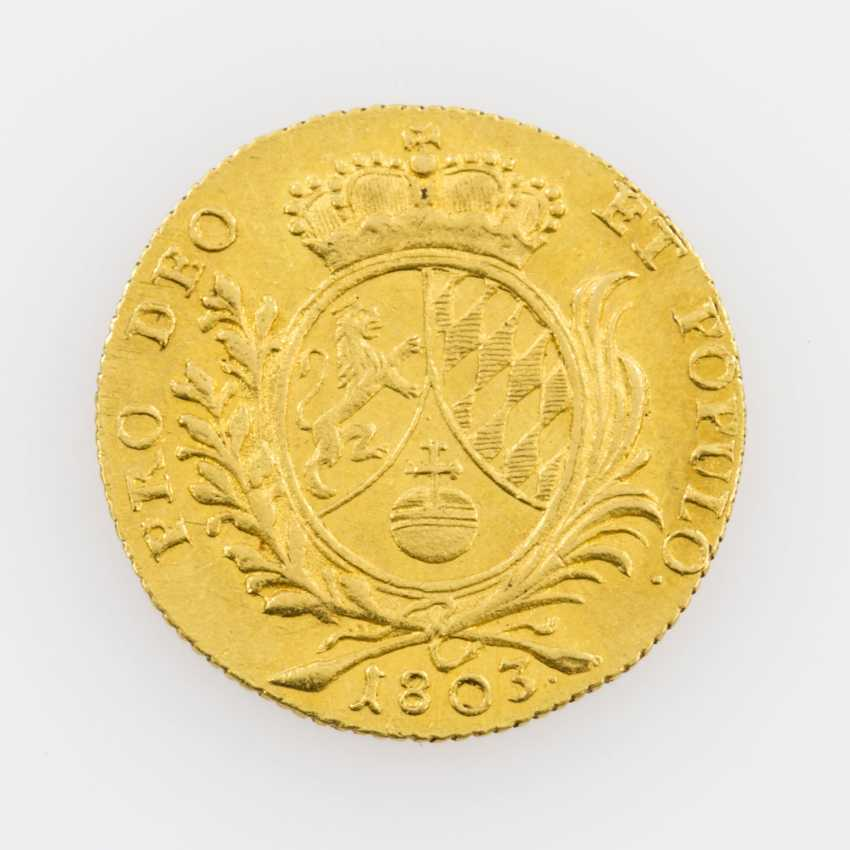 Bavaria/Gold 1 Ducat, 1803, Maximilian IV Joseph (1799-1806), with MAXIM in legend, - photo 2