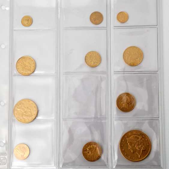 USA collection of gold coins - 10+1 piece of: - photo 2