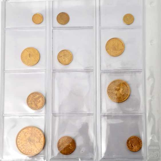 USA collection of gold coins - 10+1 piece of: - photo 3