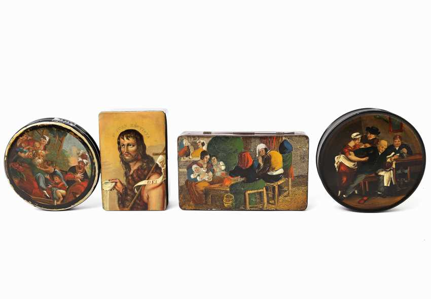 FOUR-PIECE COLLECTION OF TOBACCO TINS - photo 2