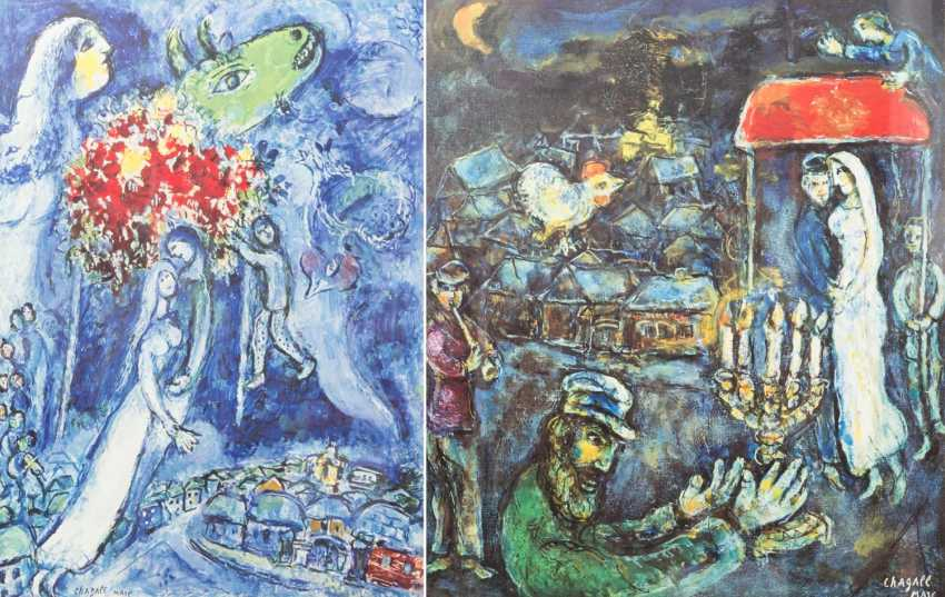 TWO COLOR LITHOGRAPHS BY MARC CHAGALL - photo 1