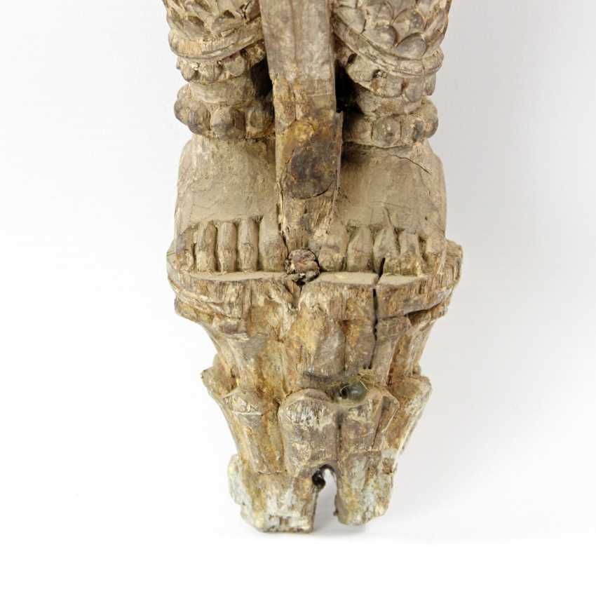 Wall * applies harness of a female figure made of wood. Well TAIHLAND 19. Century - photo 5
