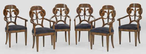 Set of six armchairs in the Empire style - photo 1