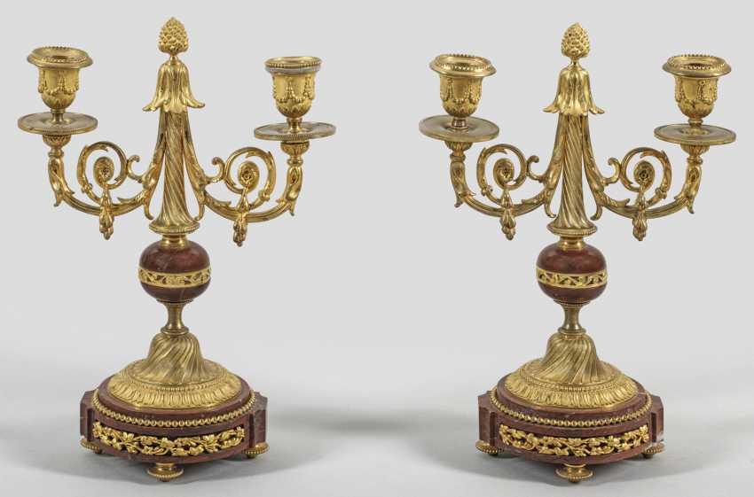 Pair of Napoleon III candelabra - photo 1