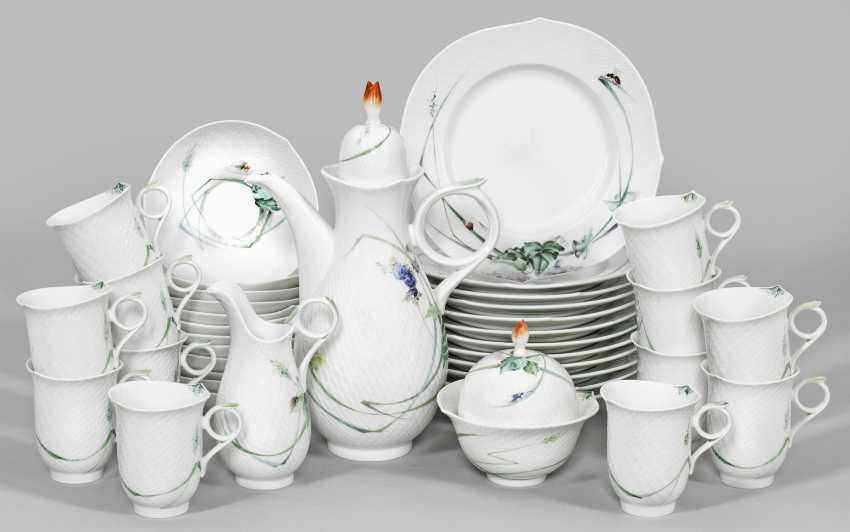 """Coffee service is """"shaft play"""" with flowers decor - photo 1"""