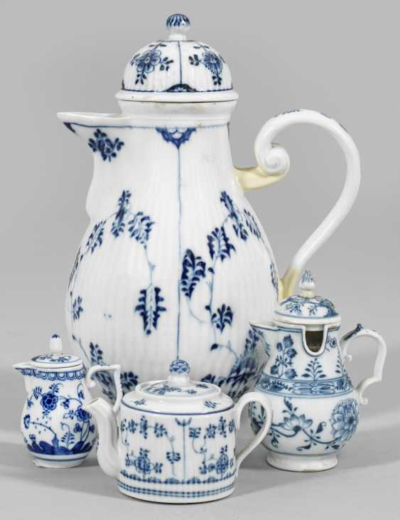 Four pitchers with blue painting - photo 1