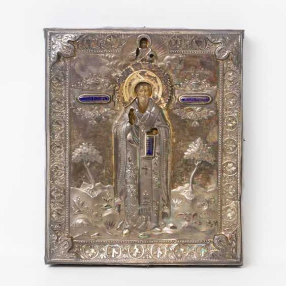 "ICON ""Saint John"" with Silberoklad, Russia 1829 - photo 1"