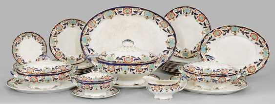 Late Victorian dining-rest service with floral decoration - photo 1