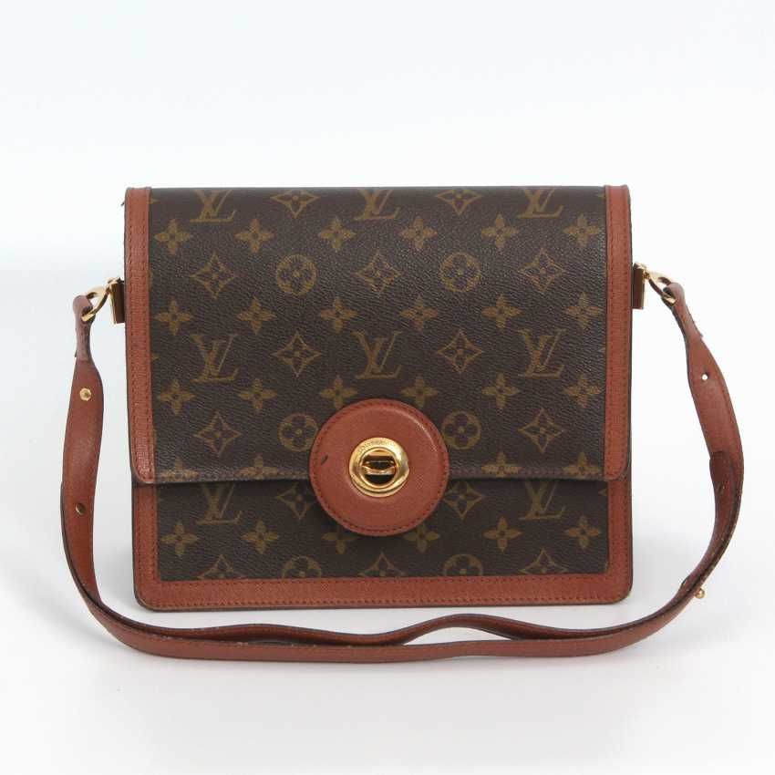 "LOUIS VUITTON VINTAGE distinctive shoulder bag ""RASPAIL"", in the collection in 1992. - photo 1"