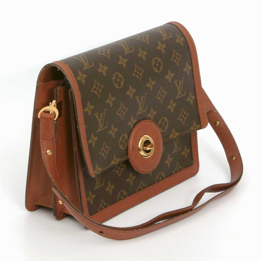 "LOUIS VUITTON VINTAGE distinctive shoulder bag ""RASPAIL"", in the collection in 1992. - photo 2"
