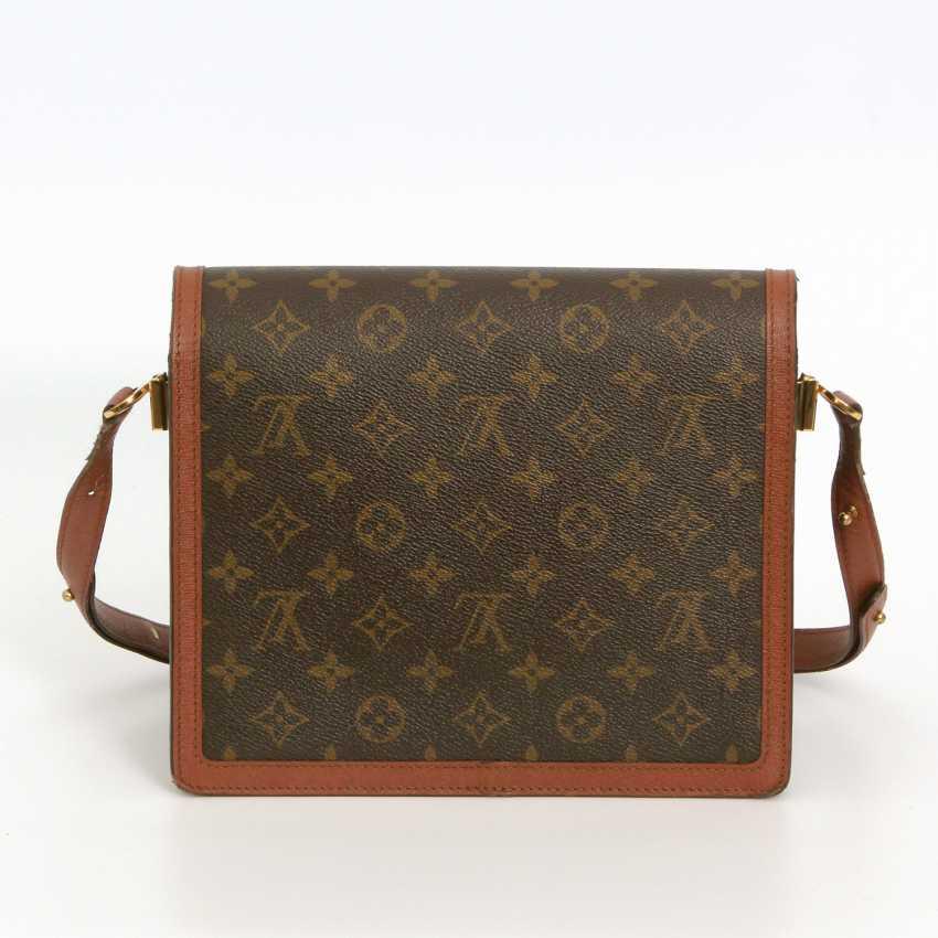 "LOUIS VUITTON VINTAGE distinctive shoulder bag ""RASPAIL"", in the collection in 1992. - photo 4"