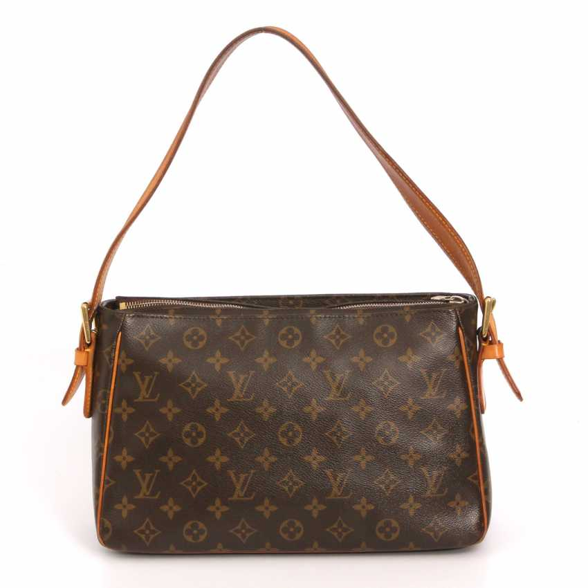 "LOUIS VUITTON practical shoulder bag ""VIVA CITE GM"", collection 2005. - photo 4"