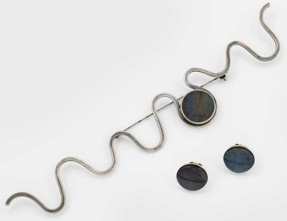 Extravagant brooch and Pair of earrings from the Finnish - photo 1
