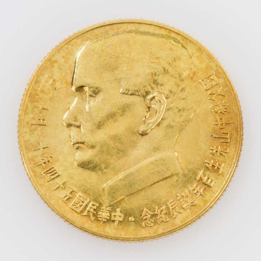 Taiwan (Republic of China)/Gold 2000 Yuan 1965, on the 100. Birthday - photo 1