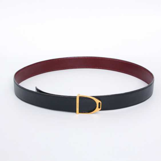 HERMÈS VINTAGE timeless reversible belt, length 85cm. Collection in 1989. - photo 1