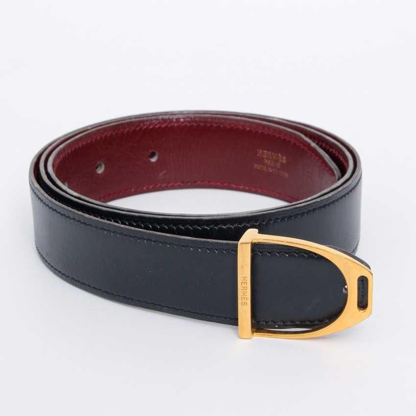 HERMÈS VINTAGE timeless reversible belt, length 85cm. Collection in 1989. - photo 2