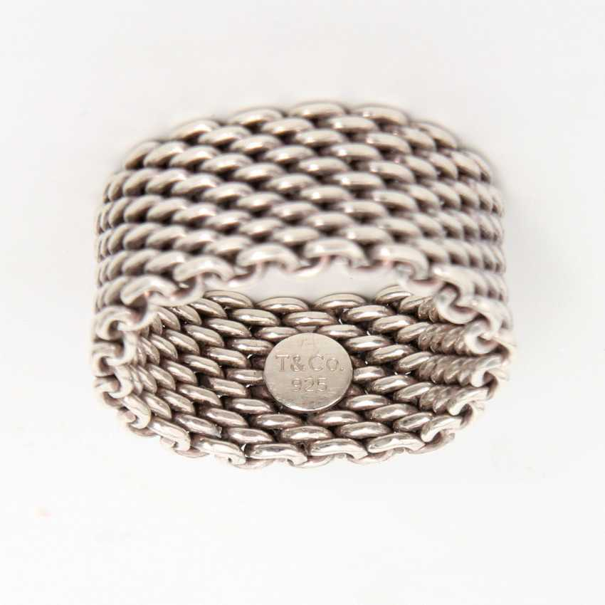 TIFFANY&Co. aparter Silber Ring, RW ca.: 54. - photo 2
