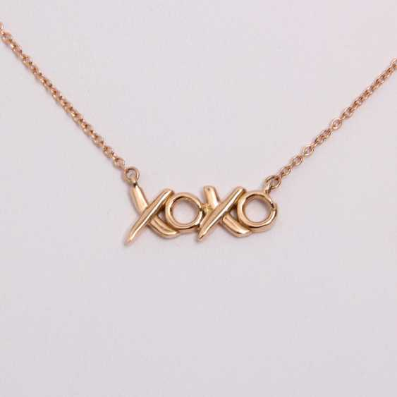 TIFFANY&co fine chain necklace, length approx: 41cm. Rose gold 18K. - photo 1