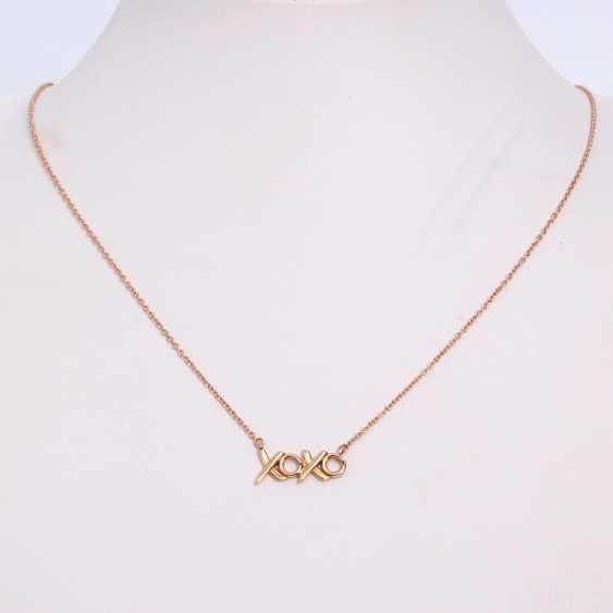 TIFFANY&co fine chain necklace, length approx: 41cm. Rose gold 18K. - photo 2