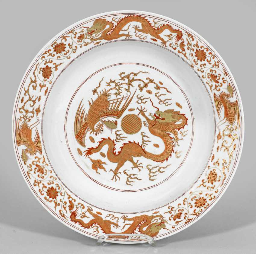 Large plate with dragon decor - photo 1