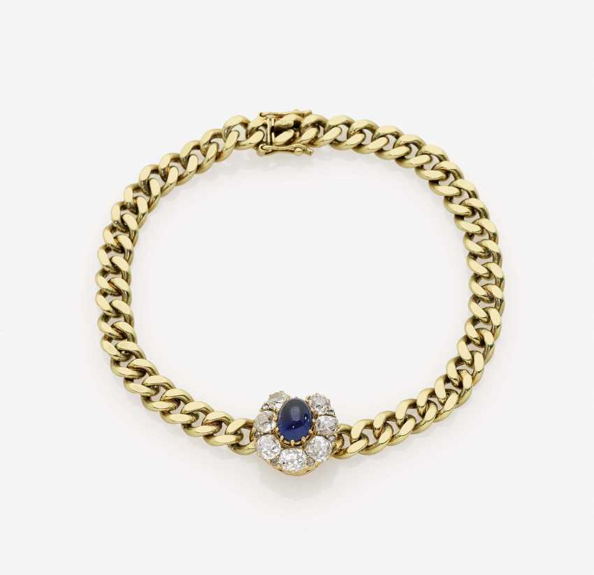 Bracelet with sapphire and diamonds - photo 1