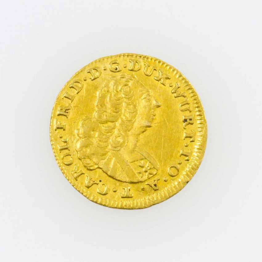 Württemberg/Gold - 1/4 Dukat o. J., Karl Friedrich (1738-1744), - photo 1