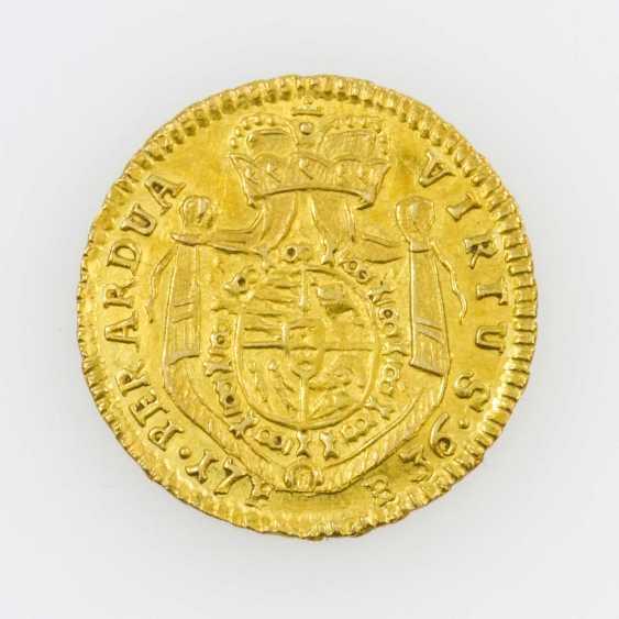 Württemberg/Gold - 1/4 Karolin 1736, F. B., Av: breast image n. r., - photo 2