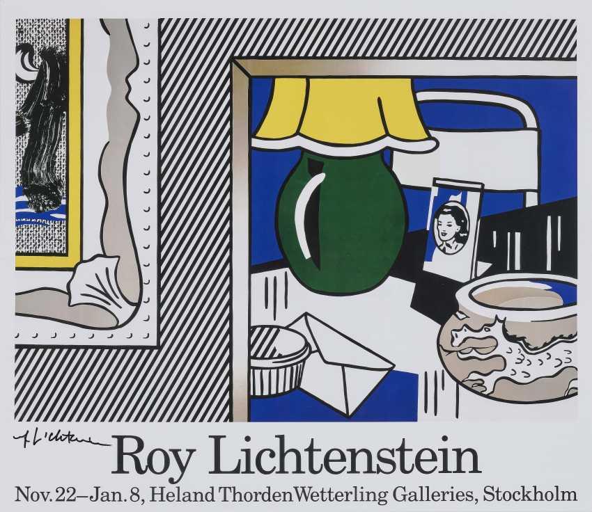 "Ausstellungsplakat ""Two paintings: Green Lamp"". - photo 1"