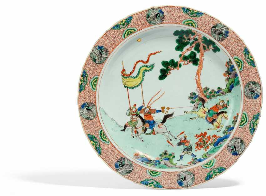 A major plate with the theater scene from the novel of the Three Kingdoms - photo 1