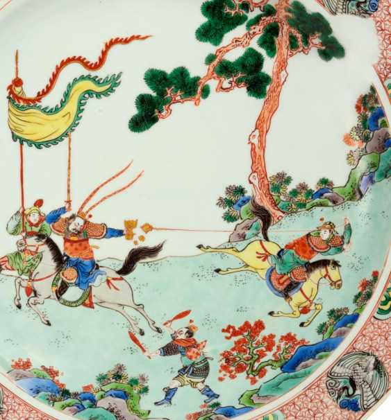 A major plate with the theater scene from the novel of the Three Kingdoms - photo 3