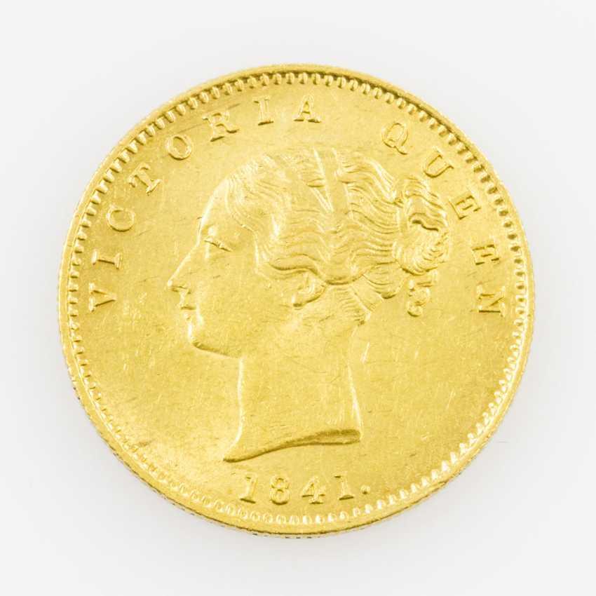British India, East India trading company/GOLD 1 Mohur 1841/Calcutta, - photo 1