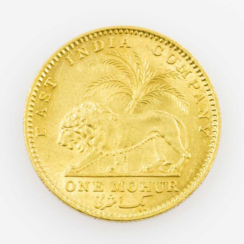 British India, East India trading company/GOLD 1 Mohur 1841/Calcutta, - photo 2