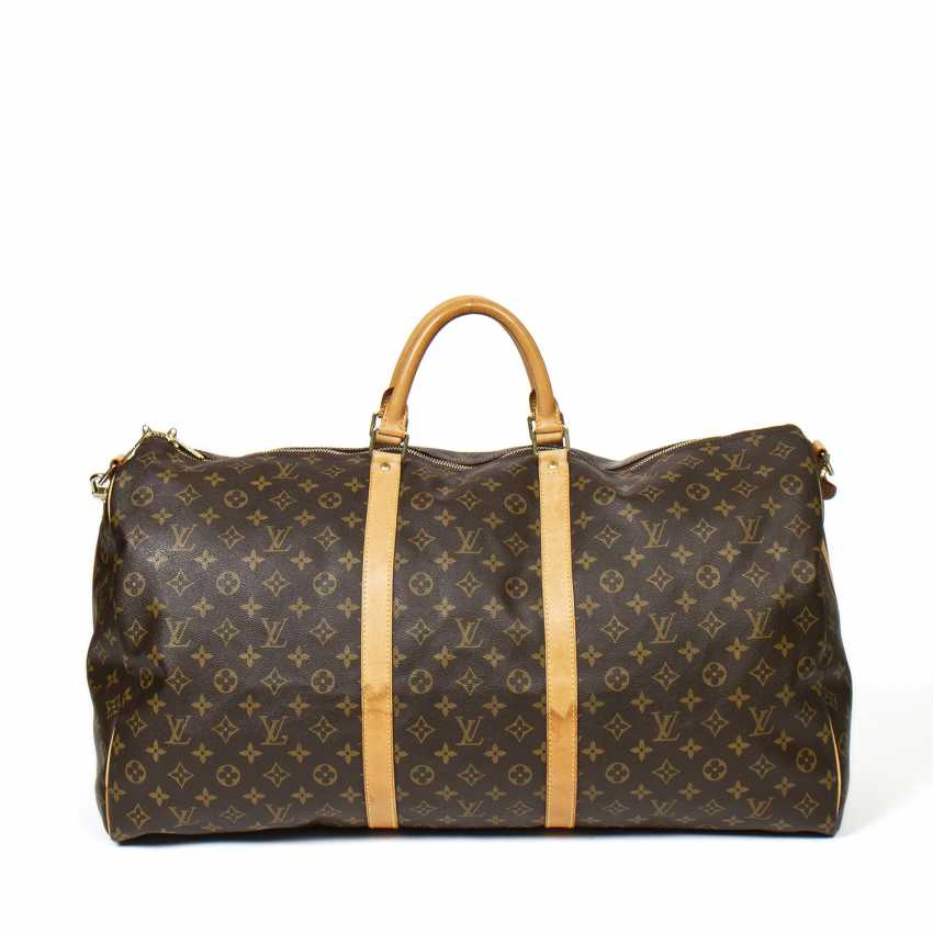 "LOUIS VUITTON weekend bag ""KEEPALL BANDOULIERE 60"", collection 1996. - photo 3"